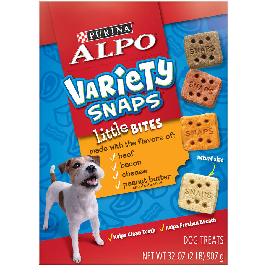 Purina ALPO Variety Snaps Little Bites Dog Treats with Beef, Bacon, Cheese & Peanut Butter Flavors 32 oz. Box by Nestle Purina Petcare Company