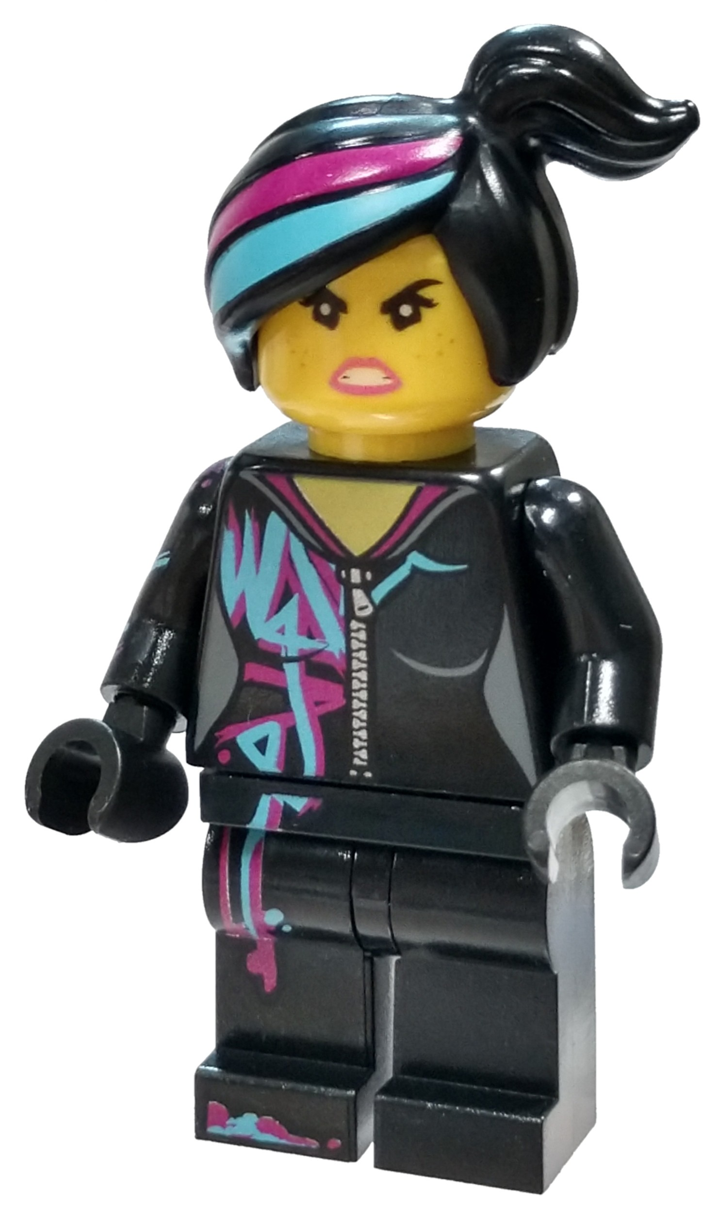 The Lego Movie 2 Lucy Wyldstyle Minifigure Magenta Lined Hoodie No Packaging Walmart Com Walmart Com