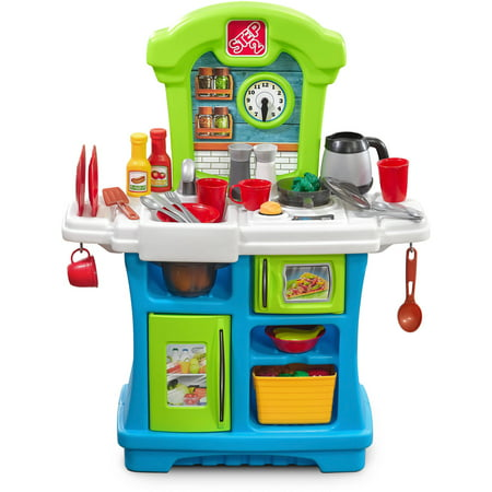 Step2 Little Cooks Kitchen Play Center with 26 Piece Accessory Set