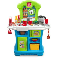 Step2 Little Cooks Kitchen, 21-piece accessory set includes dishes along with pots and pans