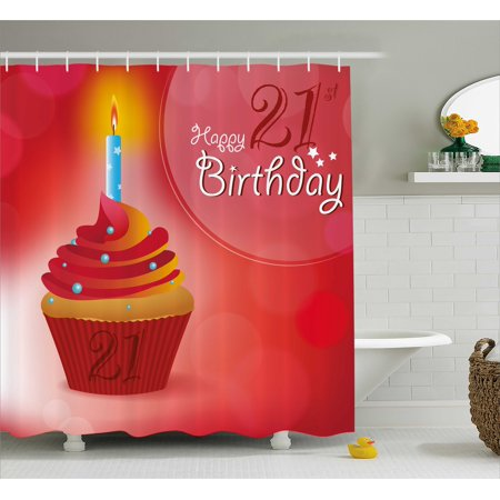 21st birthday decorations shower curtain abstract sun beams