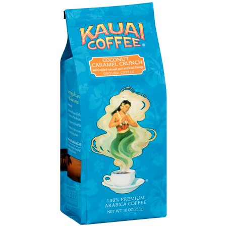 Kauai Coffee Coconut Caramel Crunch Hawaiian Ground 10 Ounce Bag