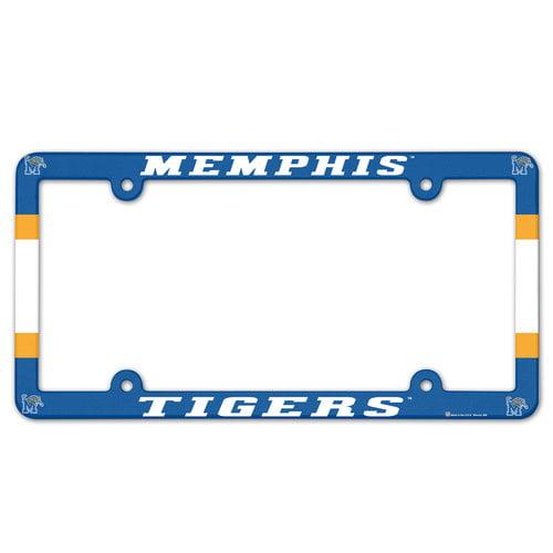 Memphis Tigers Plastic License Plate Frame