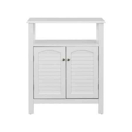 Elegant Home Fashions Sierra 2-Door Bathroom Storage Floor Cabinet