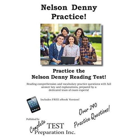 Nelson Denny Practice   Nelson Denny Practice Test Questions