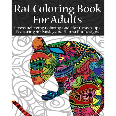 Rat Coloring Book For Adults Stress Relieving Coloring Book For