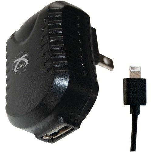 SYMTEK TP-MFI-325CS TekPower USB AC Charger with Lightning(TM) Connector 1 m