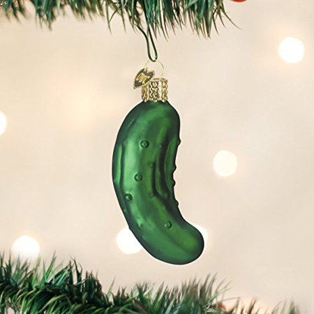 Old World Christmas Pickle Glass Blown Ornament ()