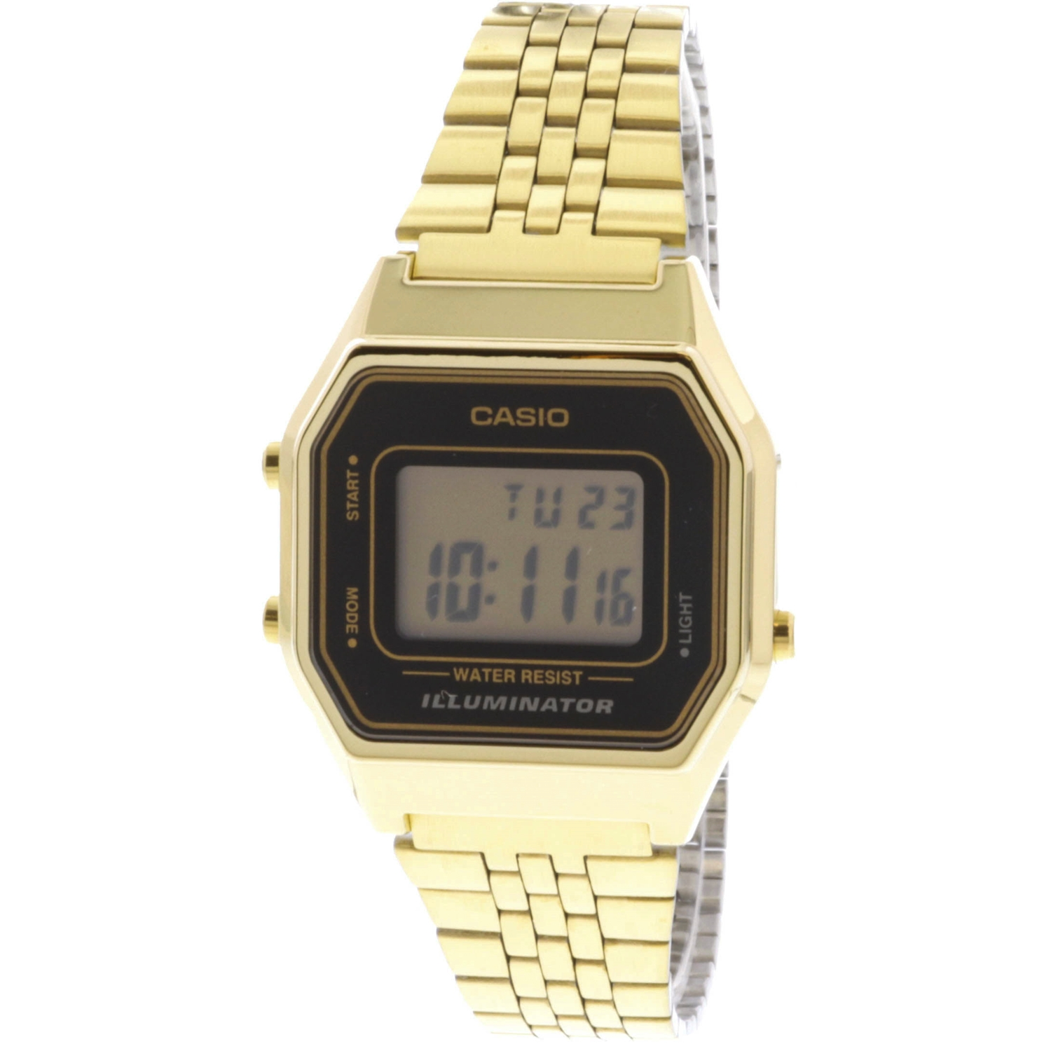Casio Women's Illuminator LA680WGA-1 Gold Metal Quartz Fashion Watch