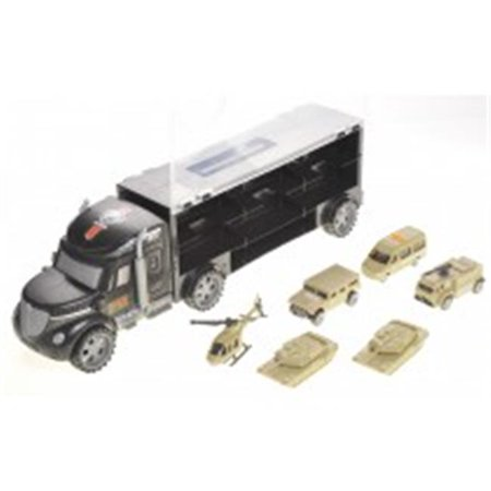 Russian Army Truck (AZ Trading T35A Military Truck Transport Car Toy Carrier with 6 Army Cars)