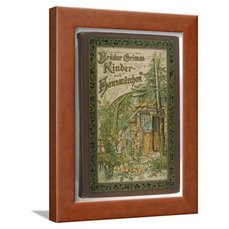 Her Cottage - Hansel and Gretel are Invited into Her Cottage by the Evil Witch Framed Print Wall Art By V.p. Mohn