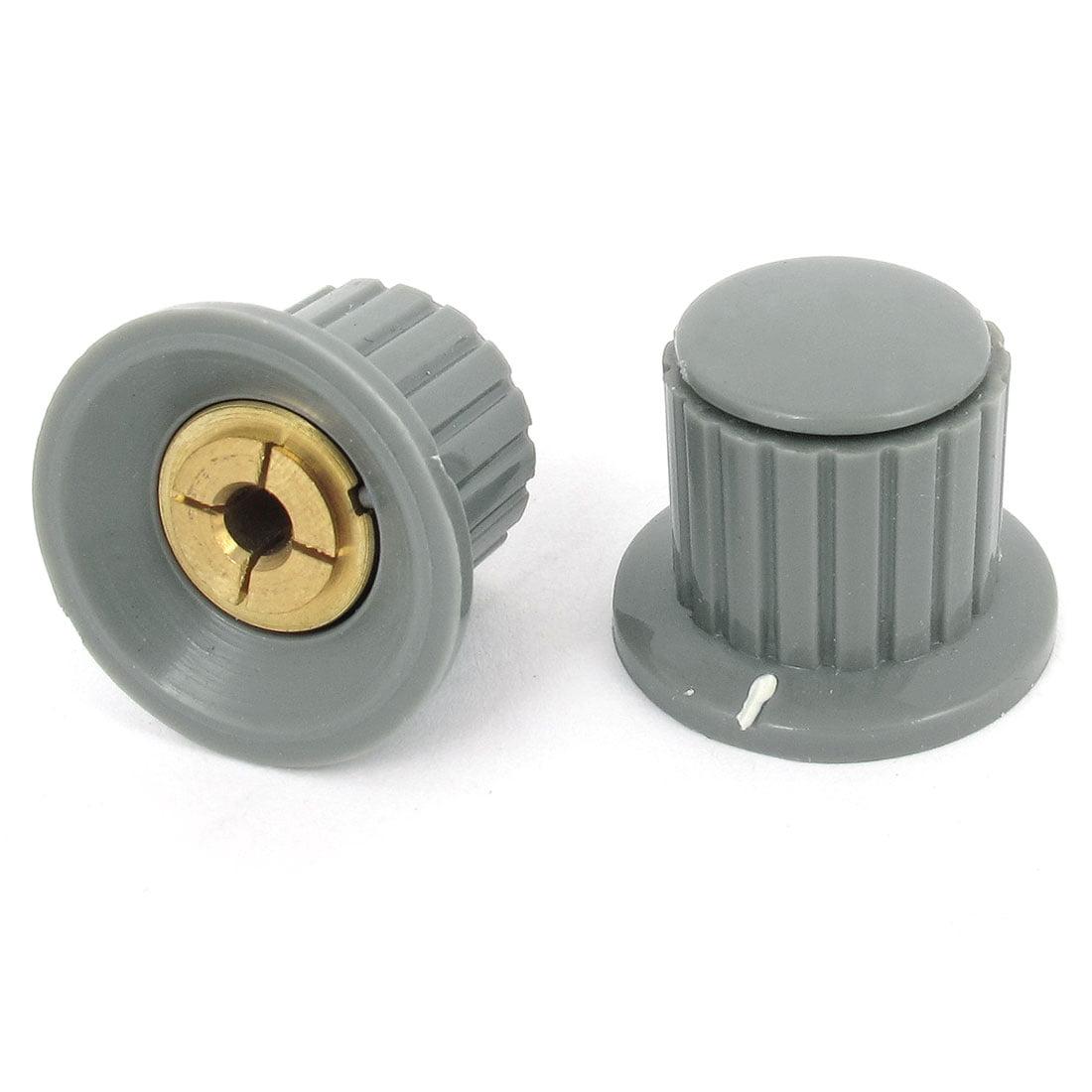 2 pcs volume control 4mm split shaft dia potentiometer mixer knobs gray. Black Bedroom Furniture Sets. Home Design Ideas