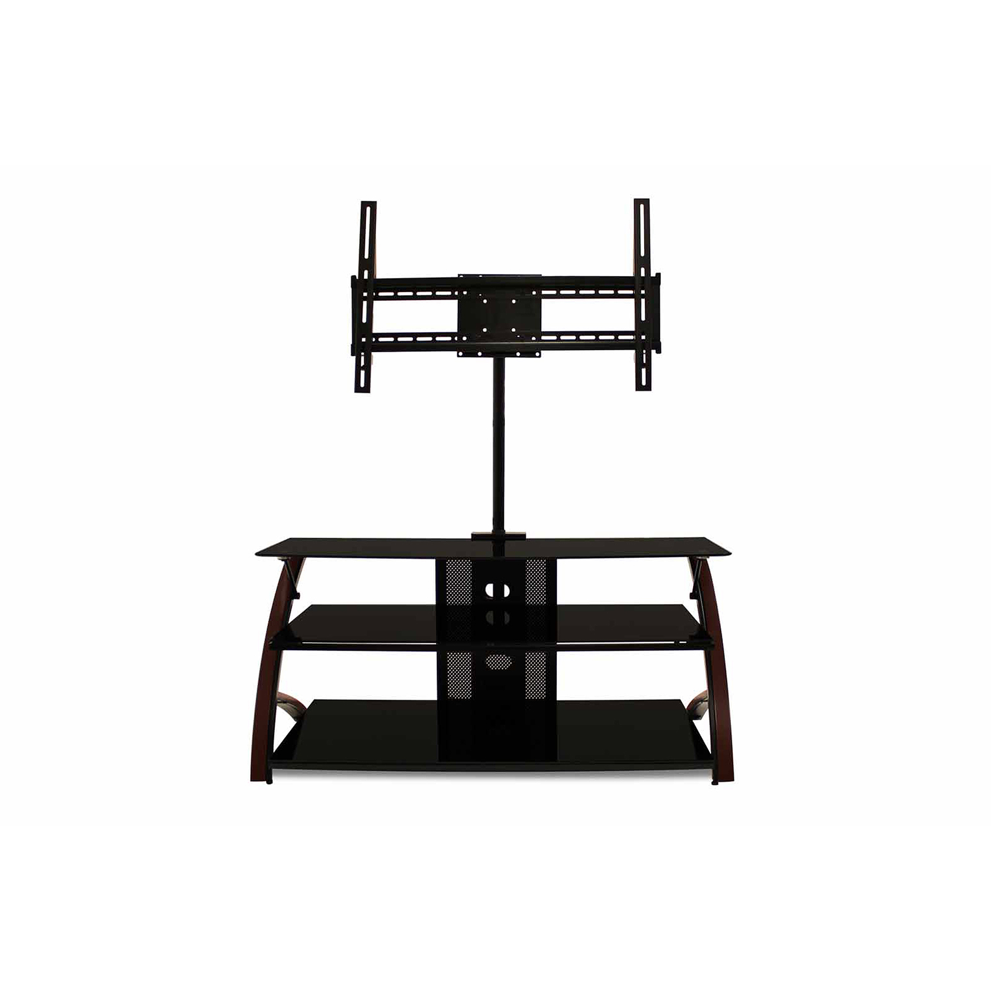 Techcraft 44 Wood Metal And Glass Tv Stand For Tvs Up To 52