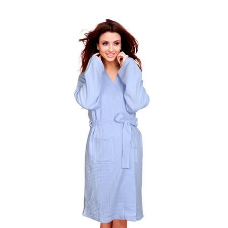 Cece - Cece Womens Waffle Robe Spa Bathrobe Lightweight Knee Length Hotel  Sleepwear - Walmart.com 638c52294