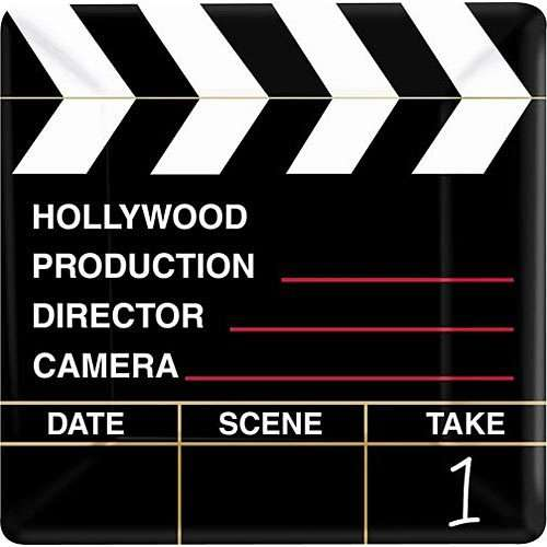 Hollywood 'Director's Cut' Small Square Paper Plates (8ct)