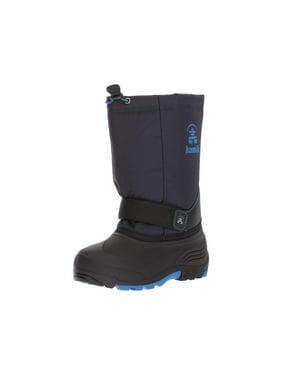 Kids Kamik Boys Rocket Fabric Ankle   Rain Boots