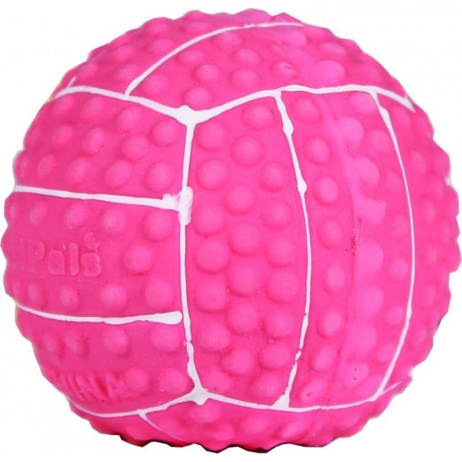 Li L Pals Latex Volleyball Dog Toys - Pink, 2 in.