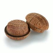 """Oak Button Top Screw Hole Plugs 3/8"""" 100  pack"""