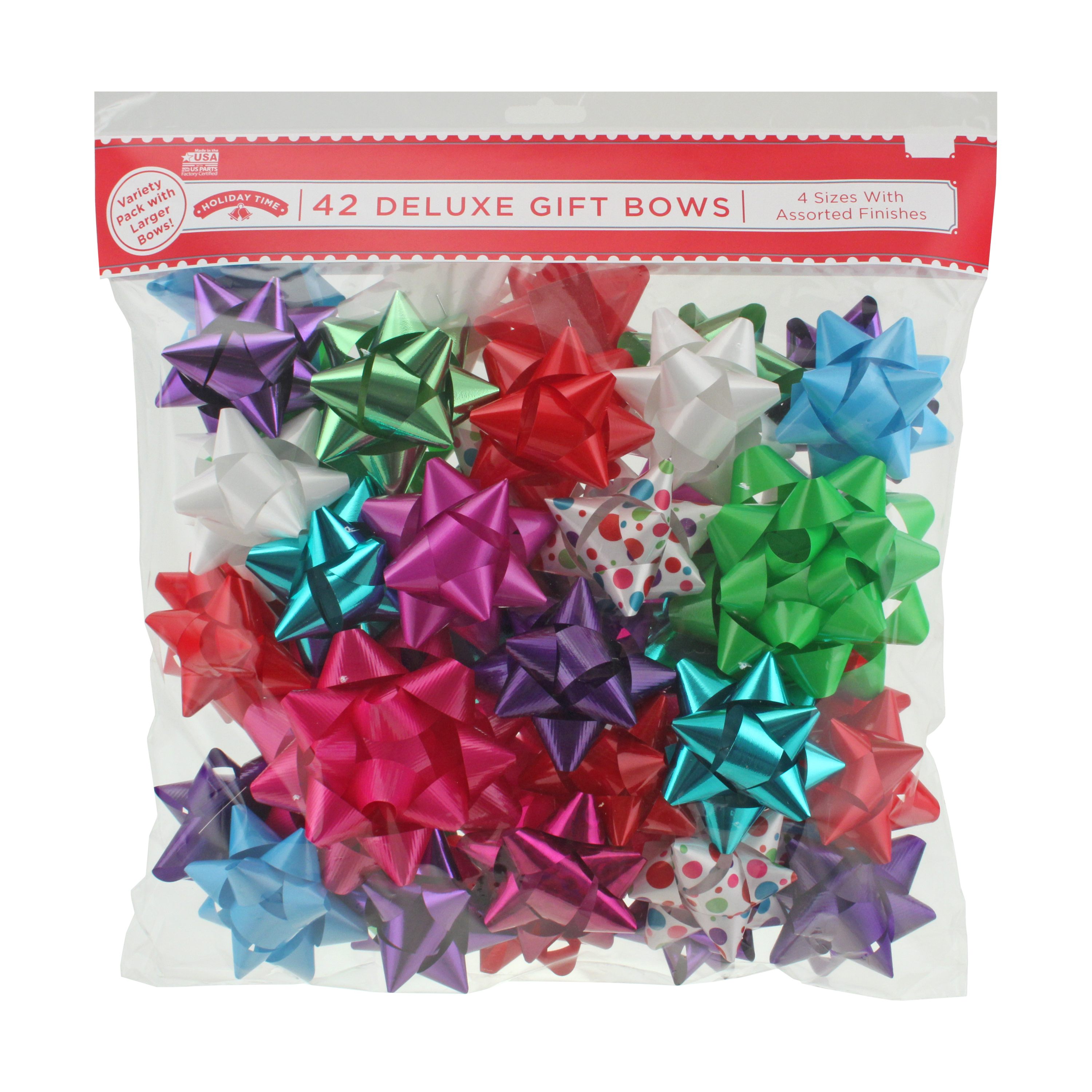 42 COUNT GIFT BOW ASSORTMENT - MULTI BRIGHTS