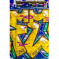 Peel-n-Stick Poster of Grunge Abstract Street Art Graffiti Background Poster 24x16 Adhesive Sticker Poster Print