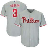 Bryce Harper Philadelphia Phillies Majestic Official Cool Base Replica Player Jersey - Gray