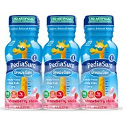 PediaSure Grow & Gain Kids' Nutritional Shake, with Protein, DHA, and Vitamins & Minerals, Strawberry, 8 fl oz, 6-Count