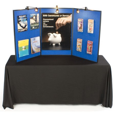 3 Panel Presentation Board 72 X 36 Double Sided Blue