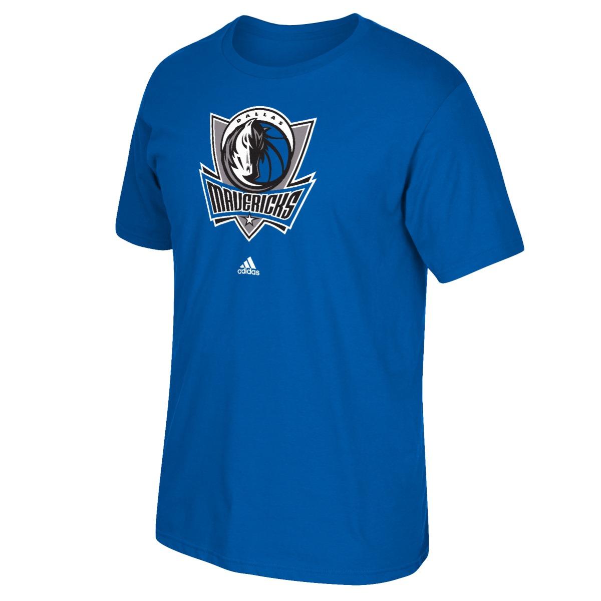 Dallas Mavericks Adidas NBA Blue Full Primary Logo T-Shirt
