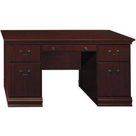 Bush Furniture Birmingham 60w Executive Desk Harvest
