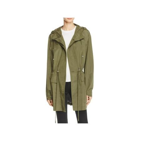 Theory Womens Hooded Midi Anorak Jacket