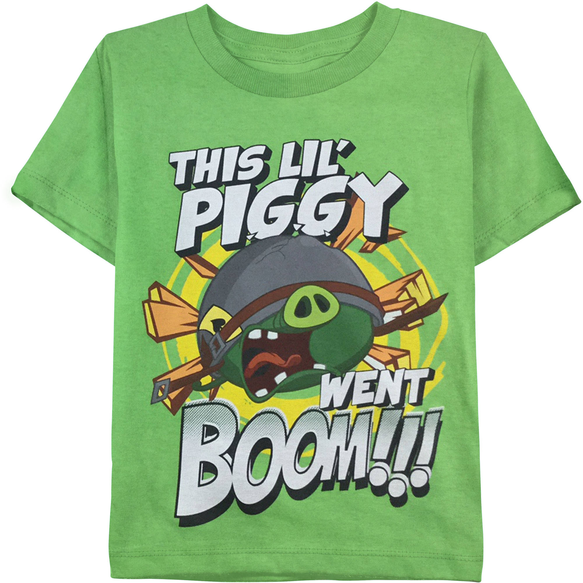 Angry Birds Boys' This Little Piggy Went Boom Graphic Tee