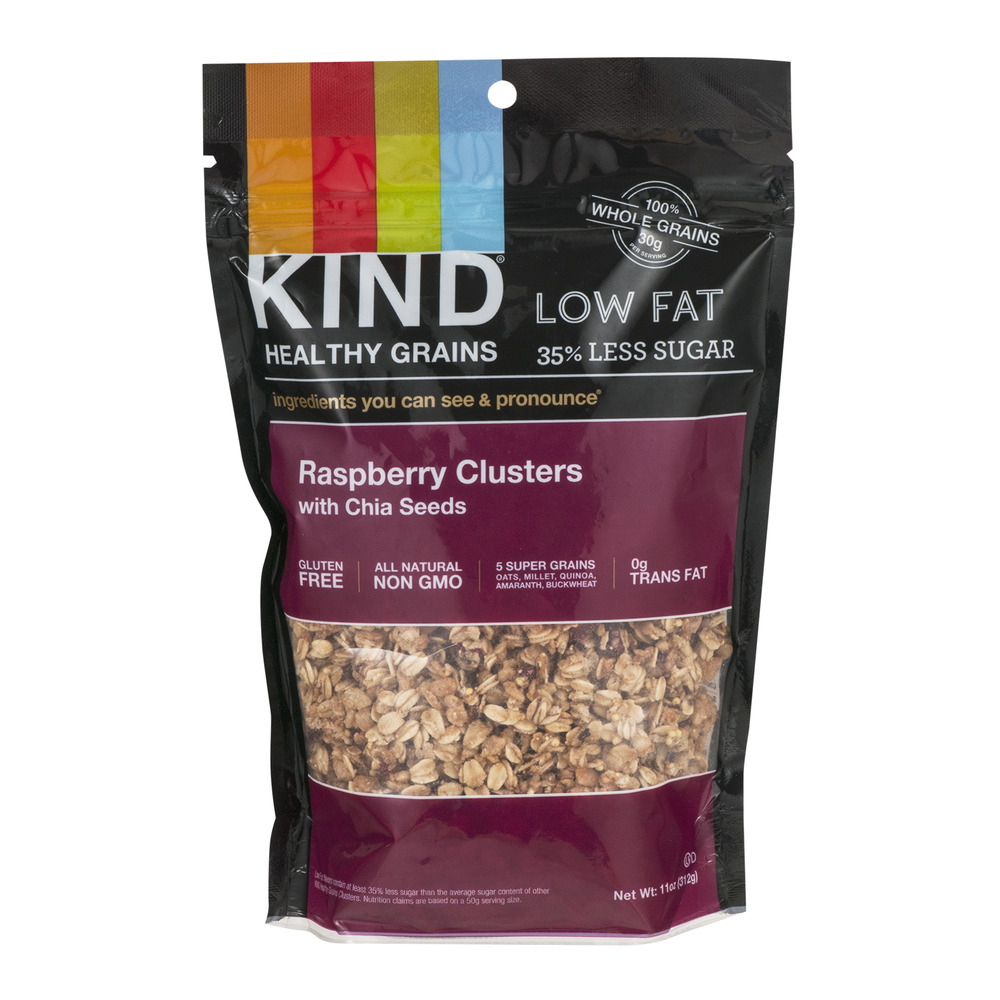 KIND Healthy Grains Raspberry Clusters with Chia Seeds, 11.0 OZ