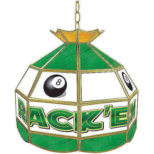 "Trademark Global Rack'em 8-Ball 16"" Stained Glass Tiffany Lamp Light Fixture"
