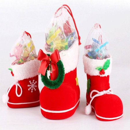 Christmas Red Boot Shape Candy Bag Xmas Tree Hanging Ornament Household Decoration Gift Bag Pendant (Candy Tree Company)