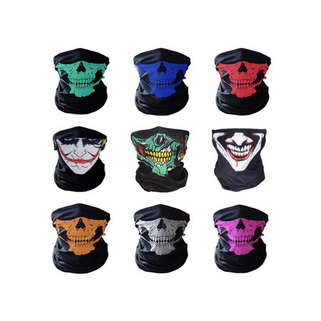 NK SUPPORT 9 Pcs Multifunctional Headwear Face Shield Neck Gaiter Scarf  Wrap Sweatband Headband for Hunting Fishing Hiking - Walmart.com ec6f134a900