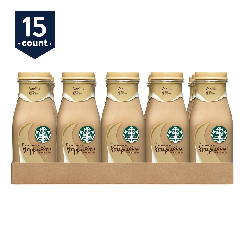 Starbucks Frappuccino Coffee Drink Vanilla 9 5 Oz Glass Bottles 15 Count