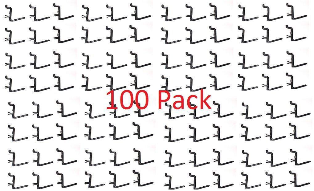 Peg Board Hook Kit Garage Tool Storage Pegboard 100 Pieces J Hook Style Plastic