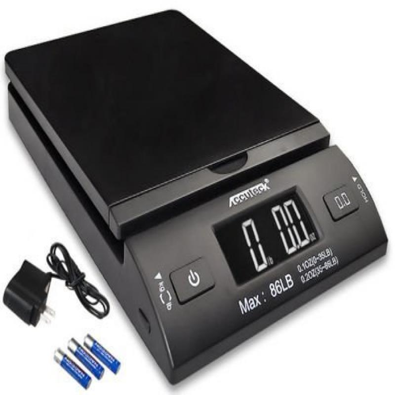 Accuteck 86lb All-in-one Black Digital Shipping Postal Scale W adapter � by