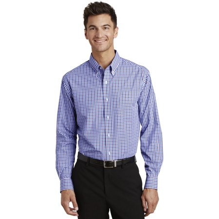 Port Authority Long Sleeve Gingham Easy Care Shirt
