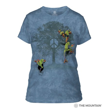 The Mountain PEACE TREE FROG Adult Female T-Shirt](Adult Female)