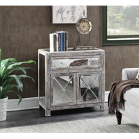 Convenience Concepts Gold Coast Vineyard Mirrored Cabinet