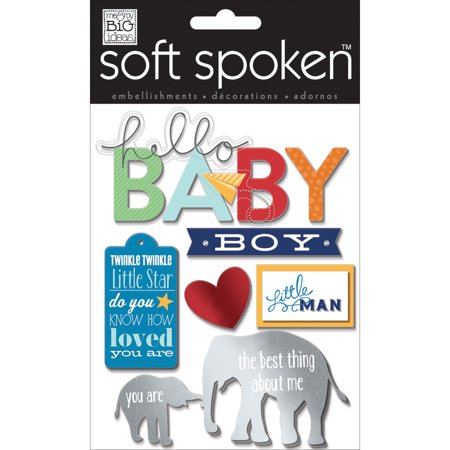 Me & My Big Ideas SS-1583 Soft Spoken Embellishments, Little Man Baby Boy - image 1 de 1