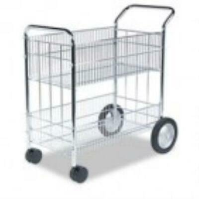 Fellowes Wire Mail Cart, 21-1/2w x 37-1/2d x 39-1/4h,
