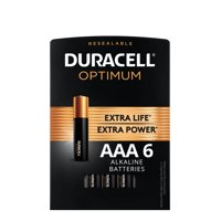 Duracell Optimum AAA Batteries, Resealable Package of Triple A Batteries, 6 Pack