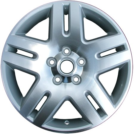 Aftermarket 2006-2016 Chevrolet Impala  17x6.5 Alloy Wheel, Rim Sparkle Silver Painted with Machined Face - 5071