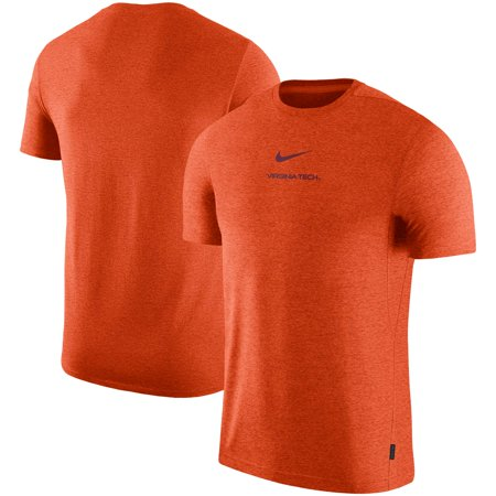 Virginia Tech Hokies Nike 2019 Coaches Sideline UV Performance Top - Orange (Nike Tech Core)