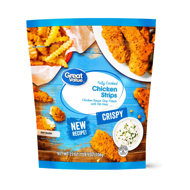 Great Value Crispy Chicken Strips, 25