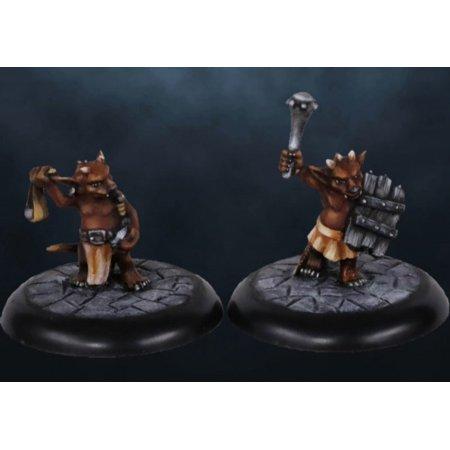 Reaper Miniature Dungeon Dwellers Ratpelt Kobolds (2) 07009 Unpainted Metal Mini