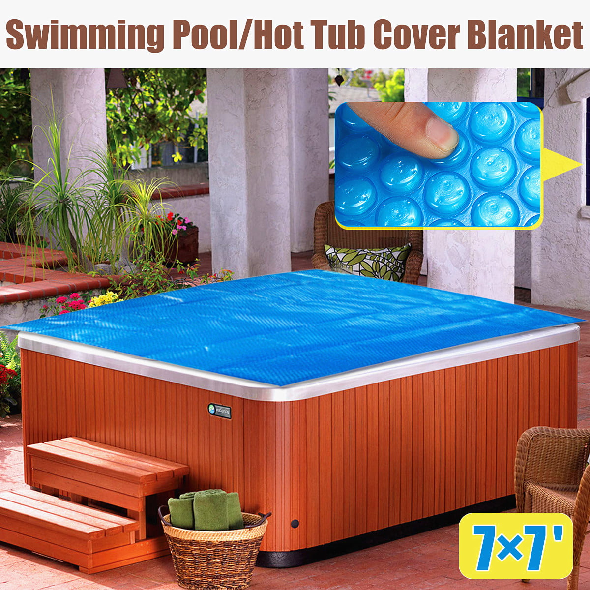 Swimming Pools & Hot Tubs Spa Hot Tub Cover Thermal Blanket ...