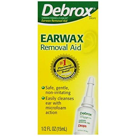 6 Pack Debrox Earwax Removal Drops microfoam action 0.5 Fluid Ounce (Best Decongestant For Inner Ear Fluid)